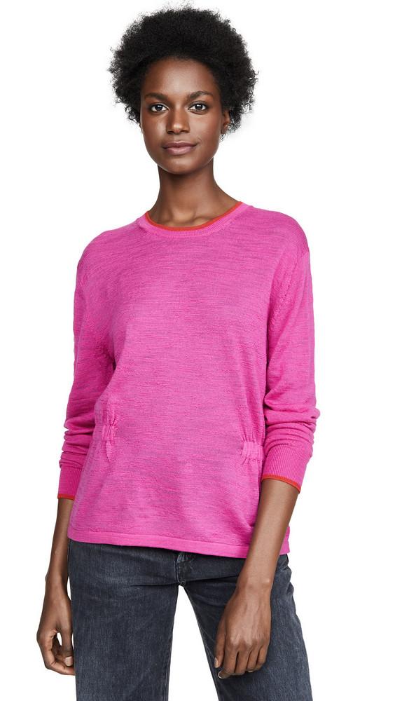 Veronica Beard Jean Charlene Long Sleeved Pullover in pink