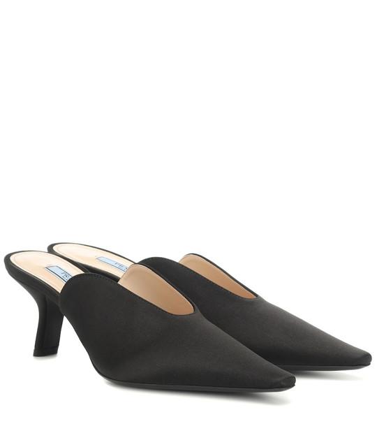 Prada Satin mules in black