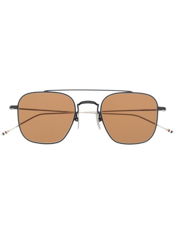 Thom Browne Eyewear square-aviator sunglasses in blue