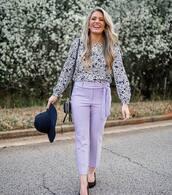 pants,purple pants