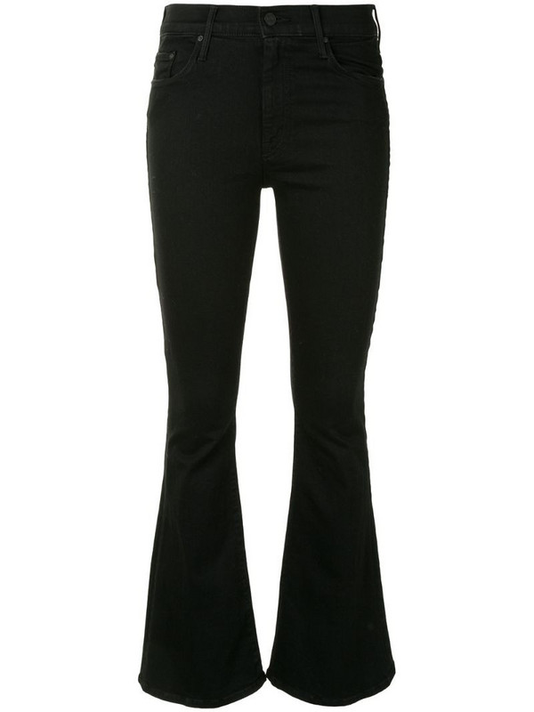 Mother The Weekender mid-rise flare jeans in black