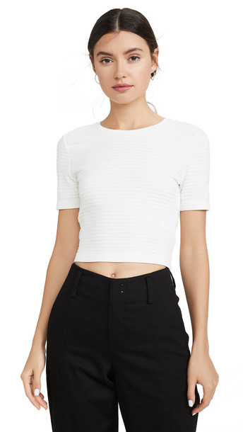 Club Monaco Tie Back Tee in white