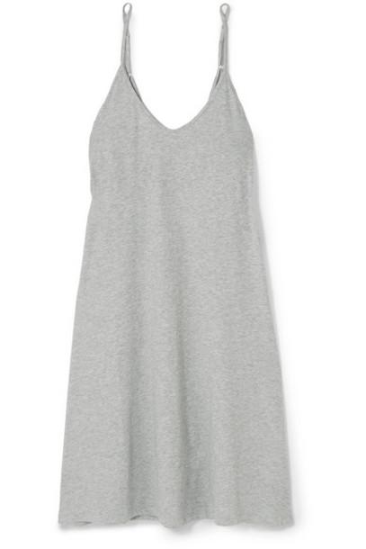 Skin - Essentials Odelle Mélange Pima Cotton-jersey Nightdress - Gray