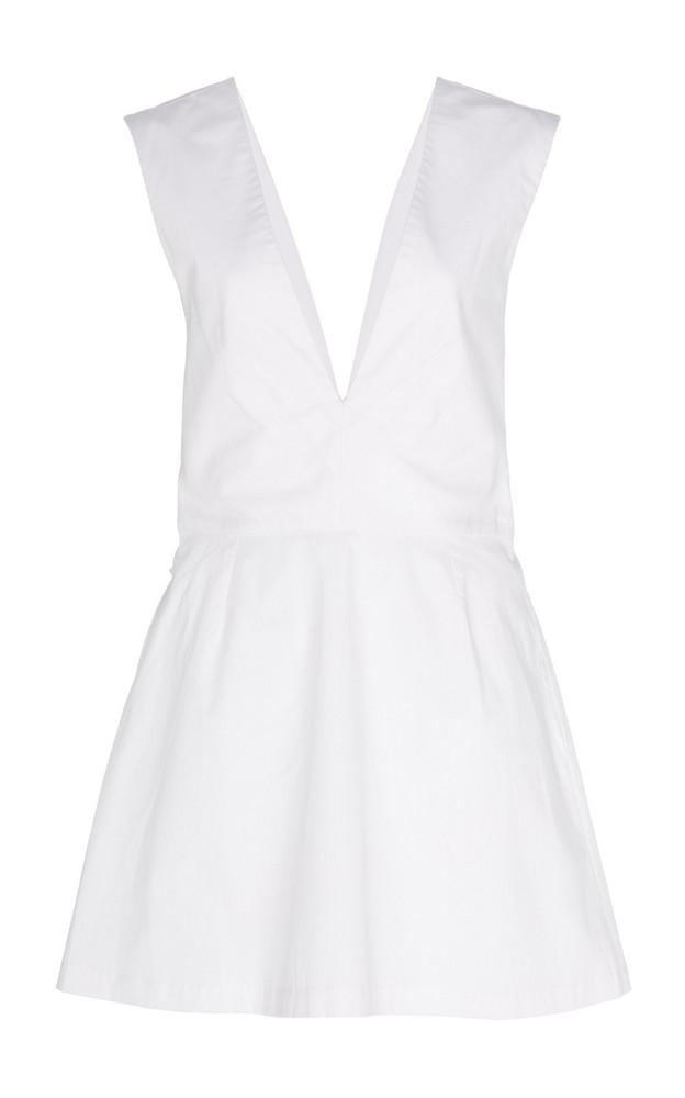 Kalita Lemuria Bow-Detailed Cotton-Poplin Playsuit Size: XS in white