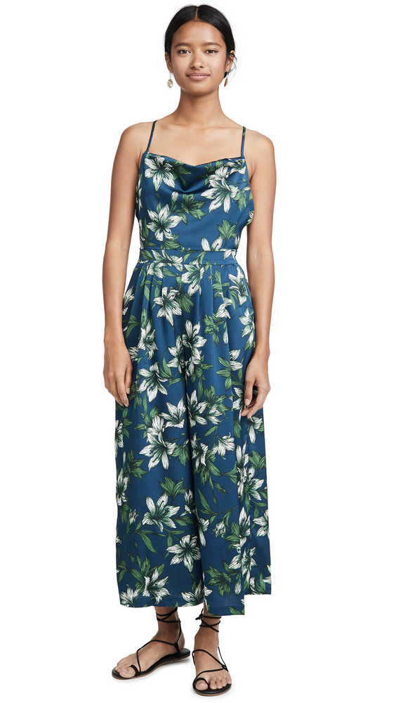J.O.A. J.O.A. Navy Tropical Jumpsuit