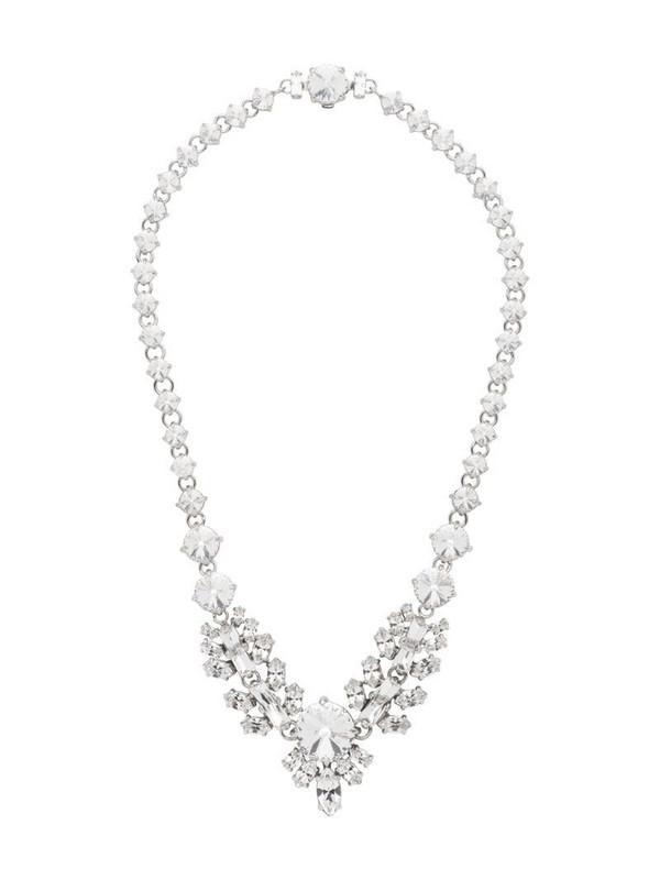 Miu Miu crystal detail necklace in neutrals