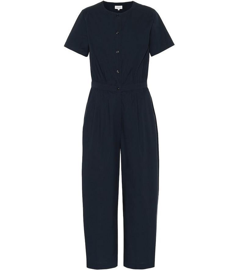 Woolrich Cotton-poplin jumpsuit in blue