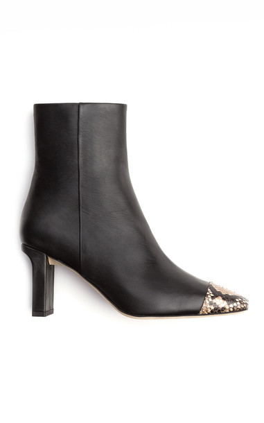 Aeyde Belle Leather Ankle Boots in black