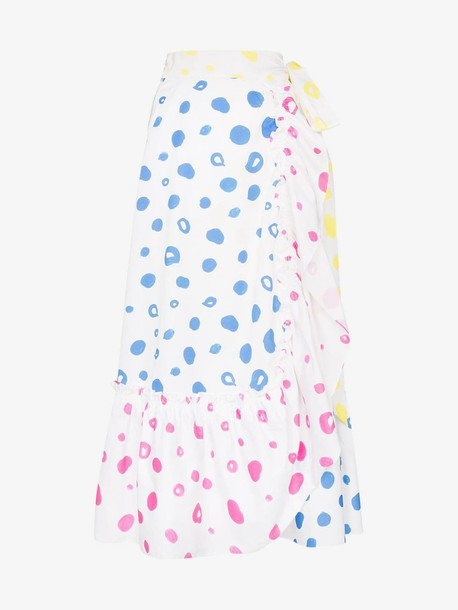 Mira Mikati scribble dot print wrap skirt