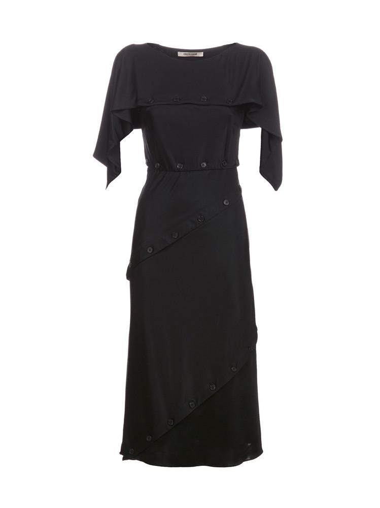 Roberto Cavalli Button Detail Dress in nero