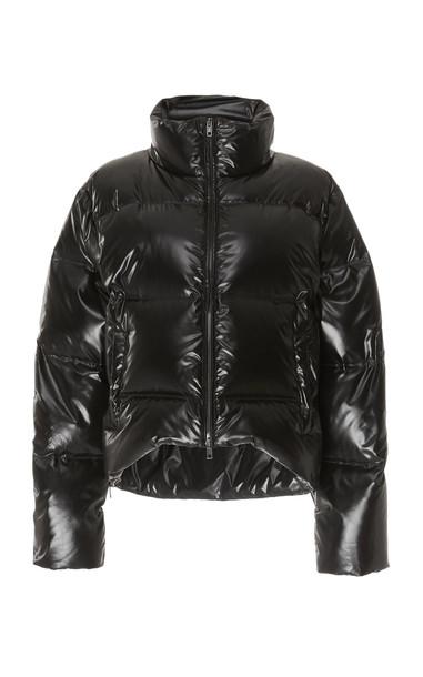 Maison Margiela Coated Nylon Puffer Jacket Size: 38 in black
