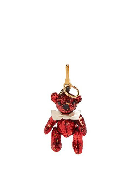 Burberry - Thomas Bear Sequinned Key Ring - Womens - Red