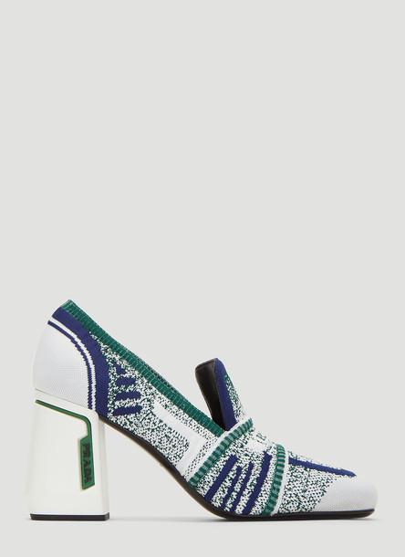 Prada Knit Fabric Loafers in White size EU - 36.5