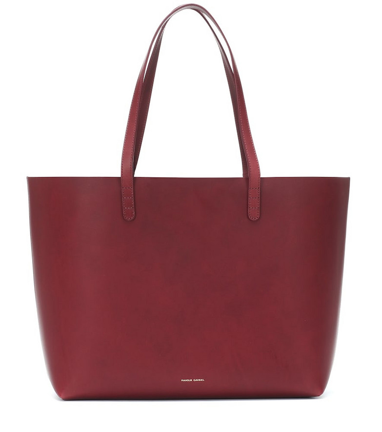 Mansur Gavriel Large leather tote in red