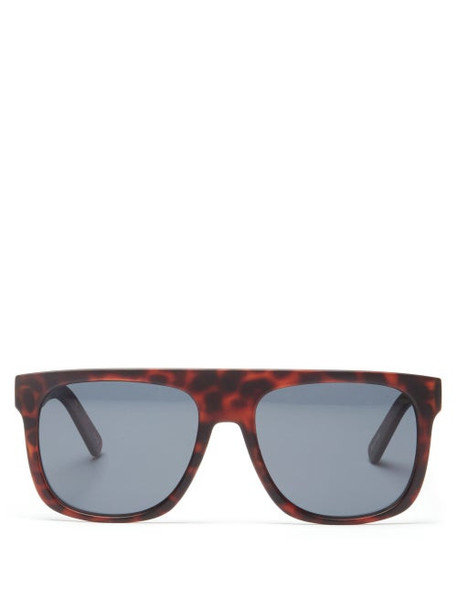 Le Specs - Covert Flat-top Tortoiseshell-acetate Sunglasses - Womens - Tortoiseshell