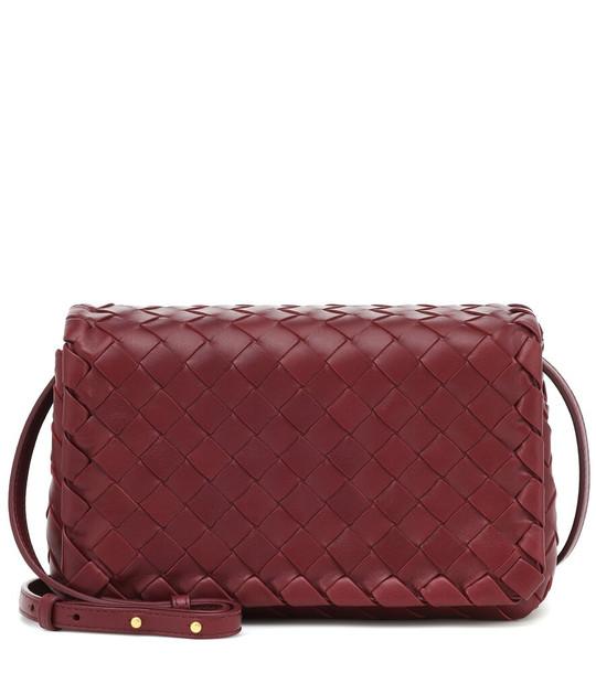 Bottega Veneta Olimpia leather shoulder bag in red