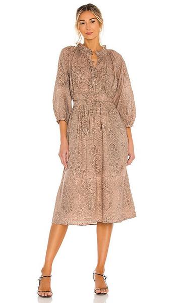 Cleobella Fern Midi Dress in Neutral in print