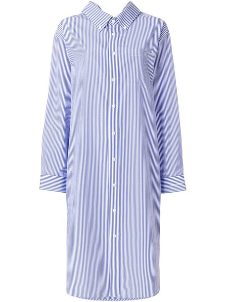 Balenciaga Swing Collar Dress in blue