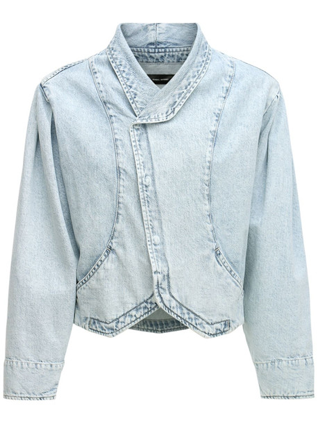 ISABEL MARANT Pauline Cotton Denim Short Jacket in blue