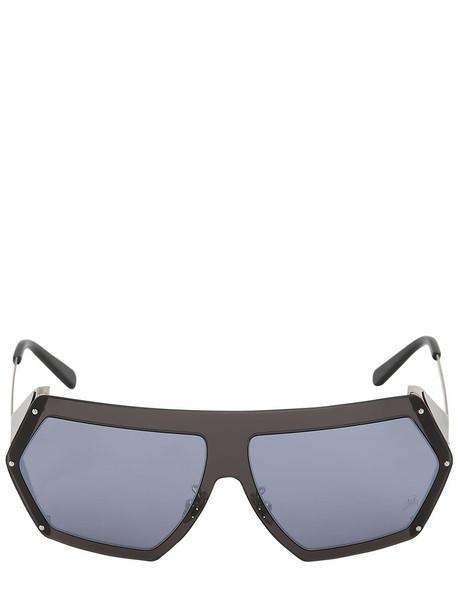 PHILIPP PLEIN Mirrored Square Sunglasses in blue