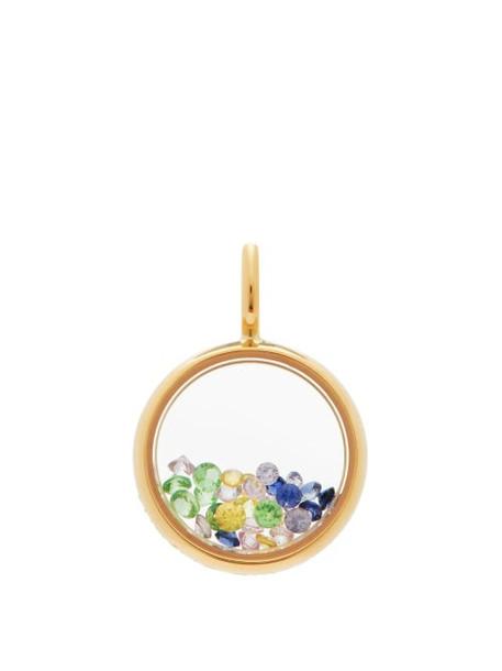 Aurélie Bidermann Fine Jewellery - Mini Chivor Sapphire & 18kt Gold Pendant - Womens - Gold