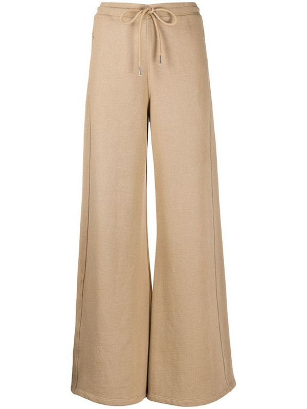 Opening Ceremony flared high-waisted track pants in neutrals