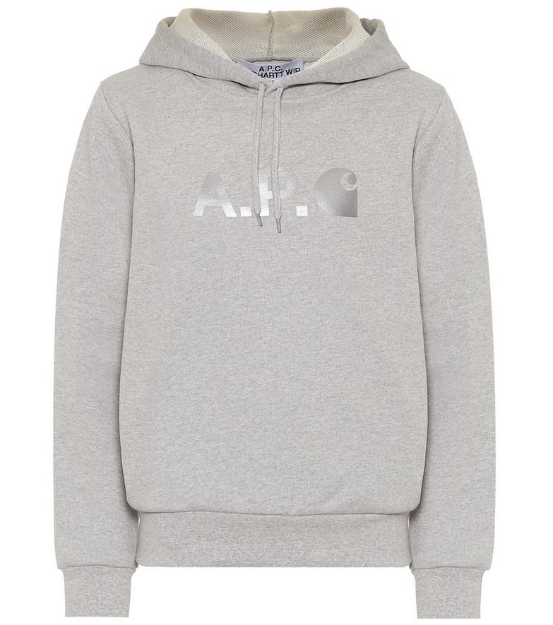 A.P.C. x Carhartt WIP Stash cotton-blend hoodie in grey