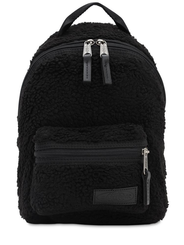 EASTPAK 10l Faux Shearling Orbit Backpack in black