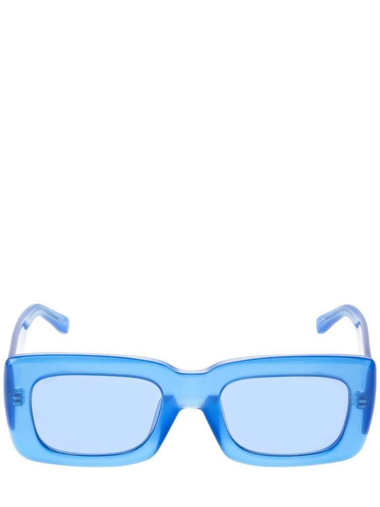 THE ATTICO Marfa Squared Acetate Sunglasses in blue