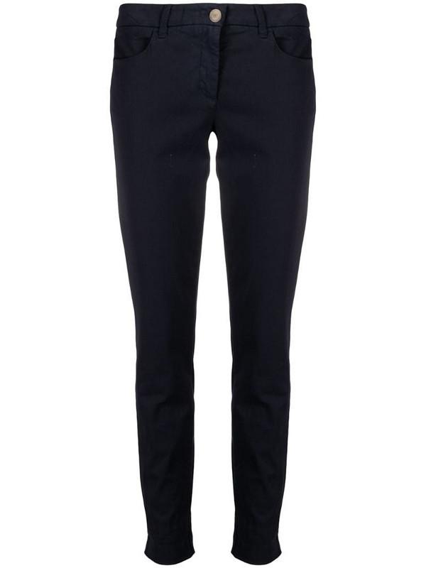 Luisa Cerano straight-leg trousers in blue