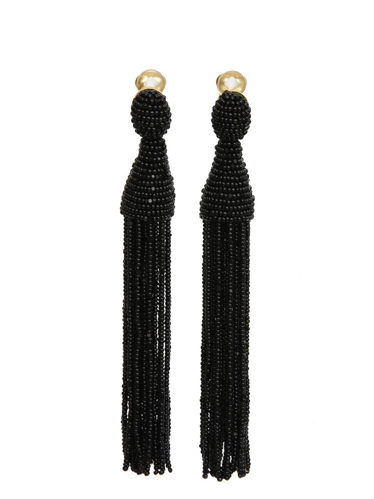 Oscar De La Renta Earrings in black