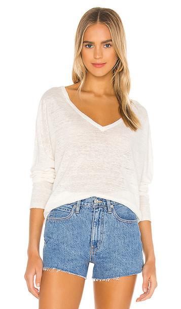 NILI LOTAN Nina Sweater in White