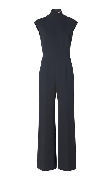 Emilia Wickstead Adelaide Crepe Straight-Leg Jumpsuit Size: 6 in grey