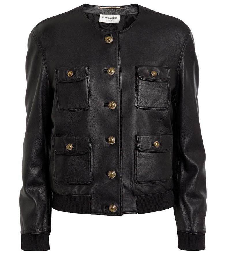 Saint Laurent Leather jacket in black