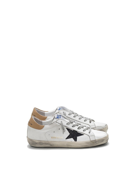 Golden Goose Sneakers Superstar Glitter in black / sand / white