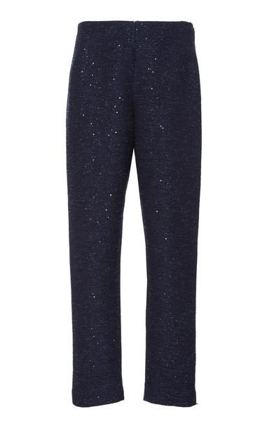 Lela Rose High Waist Pant Size: 10 in navy