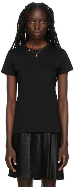 Vince Essential Pima T-Shirt in black