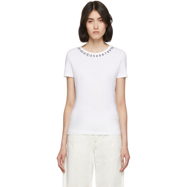 Maison Margiela White Logo Collar T-Shirt