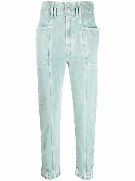 Isabel Marant Étoile high-rise tapered jeans - Green