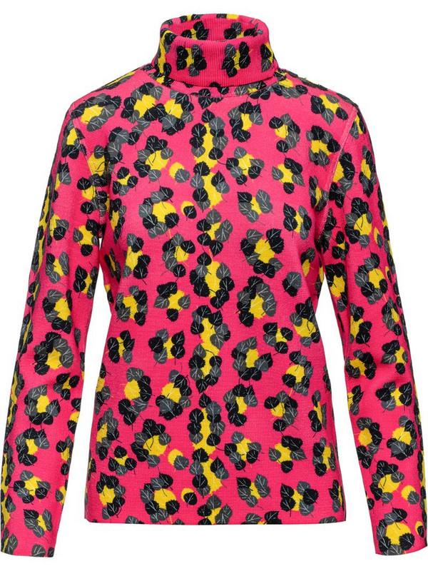 Aztech Mountain Matterhorn leopard-print jumper in pink