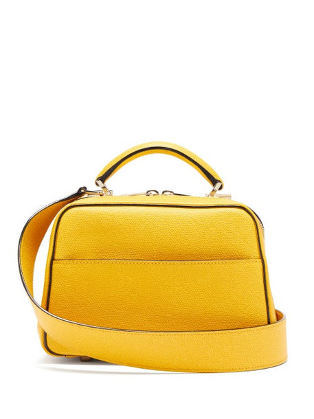 Valextra - Serie S Small Grained Leather Bag - Womens - Yellow