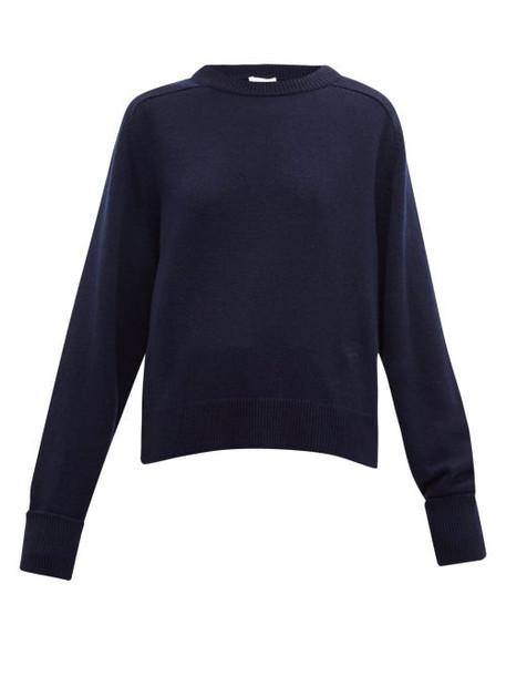 Chloé Chloé - Round Neck Cashmere Sweater - Womens - Navy