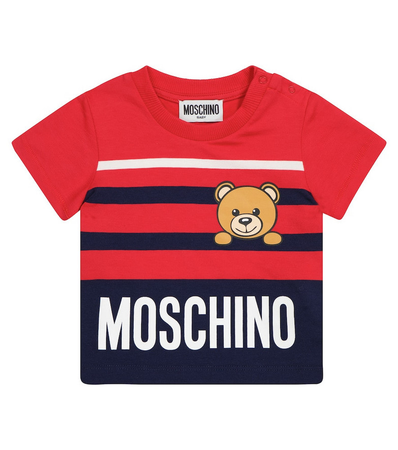 Moschino Kids Baby stretch-cotton T-shirt in red