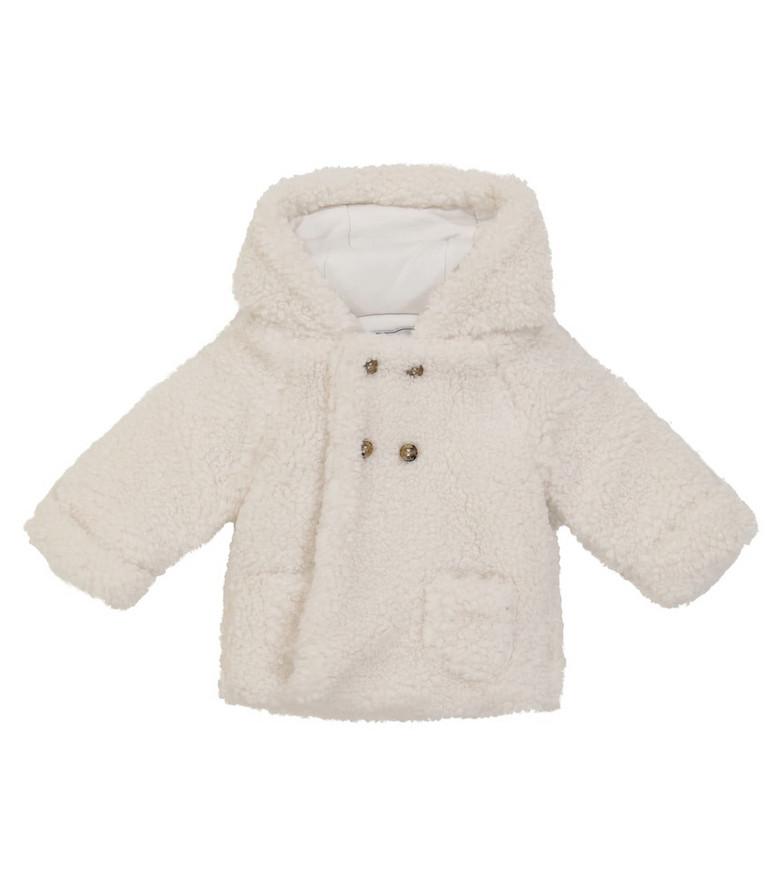 Tartine et Chocolat Baby faux shearling coat in white