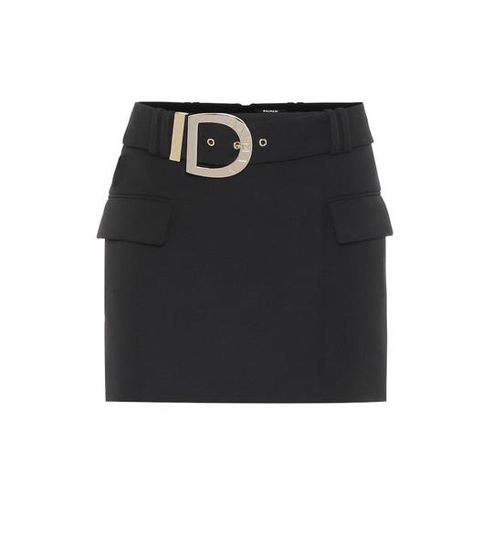 Balmain Wool miniskirt in black
