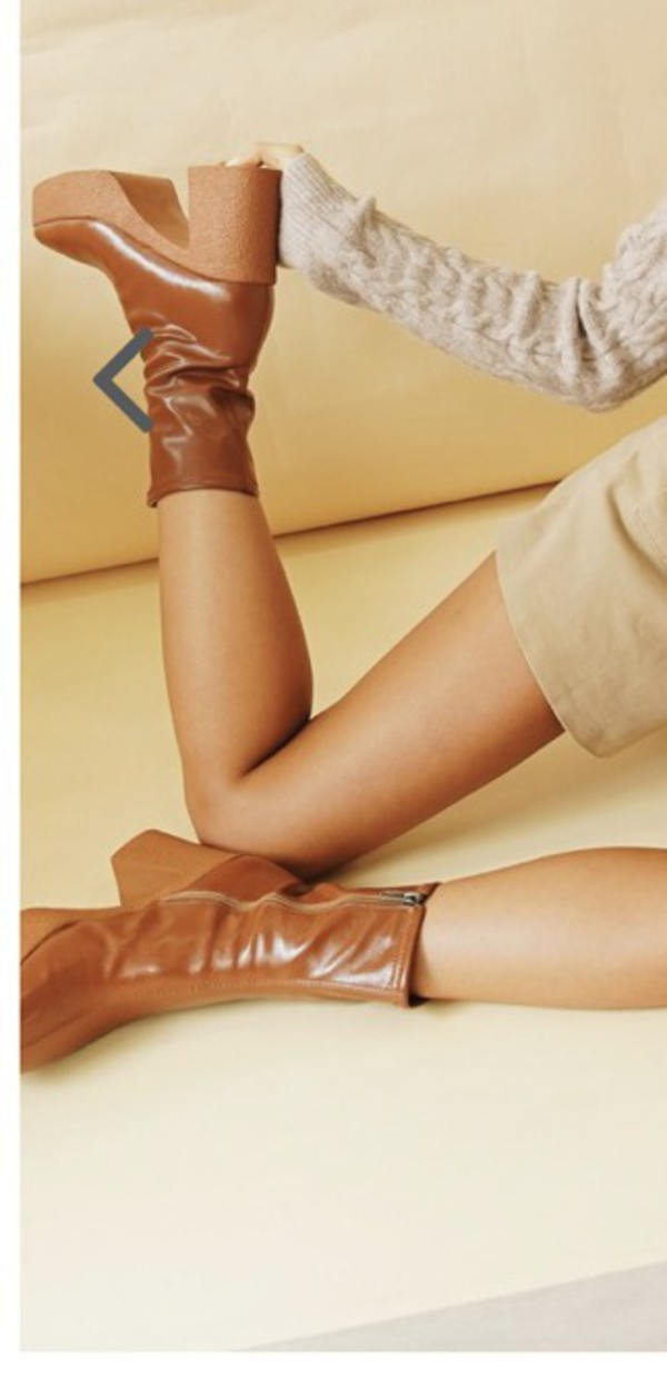 shoes brown brown leather boots chunky heel