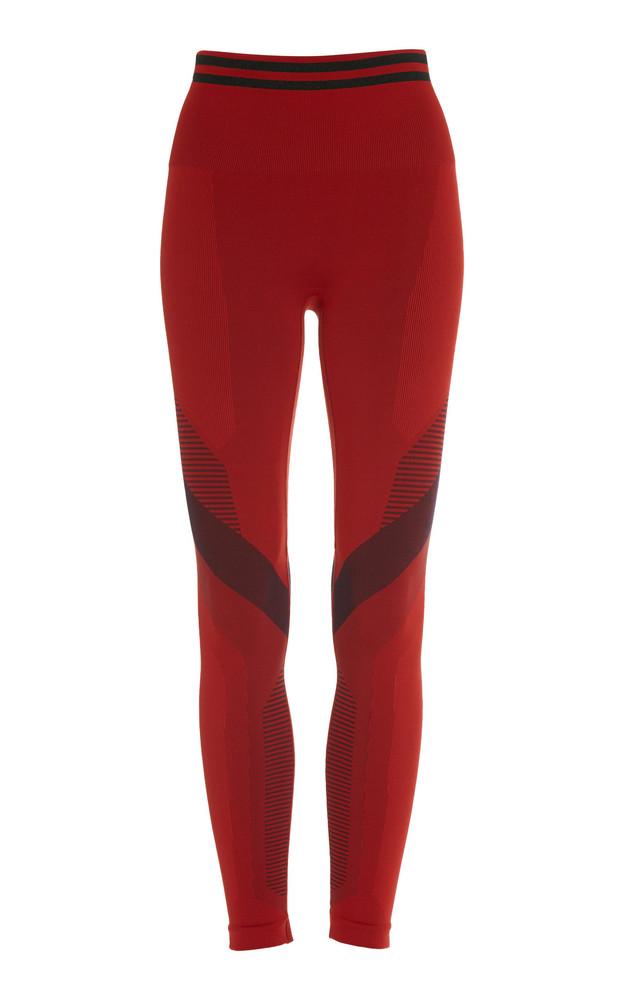 LNDR Skylark Two-Tone Stretch-Jersey Leggings Size: XS/S in red