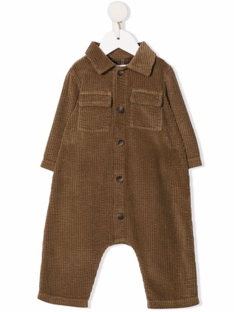 Zhoe & Tobiah corduroy shirt-style romper - Brown