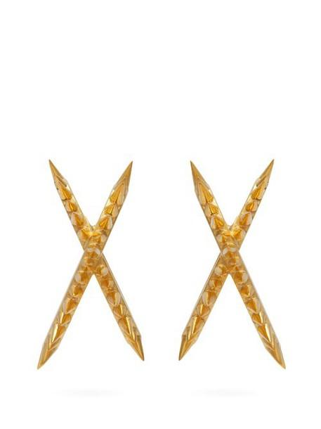 Alan Crocetti - Space Mini Gold Vermeil Ear Cuffs - Womens - Gold