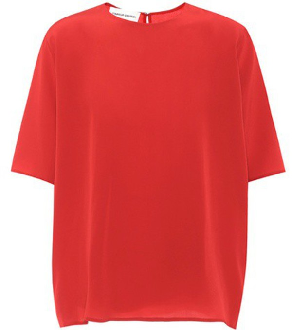 Mansur Gavriel Silk top in red